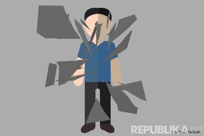 Ilustrasi Mutilasi. (Republika/Mardiah)
