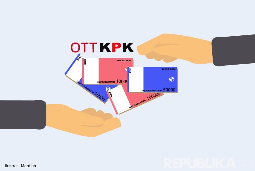 Ilustrasi Operasi Tangkap Tangan (OTT). (Republika/Mardiah)