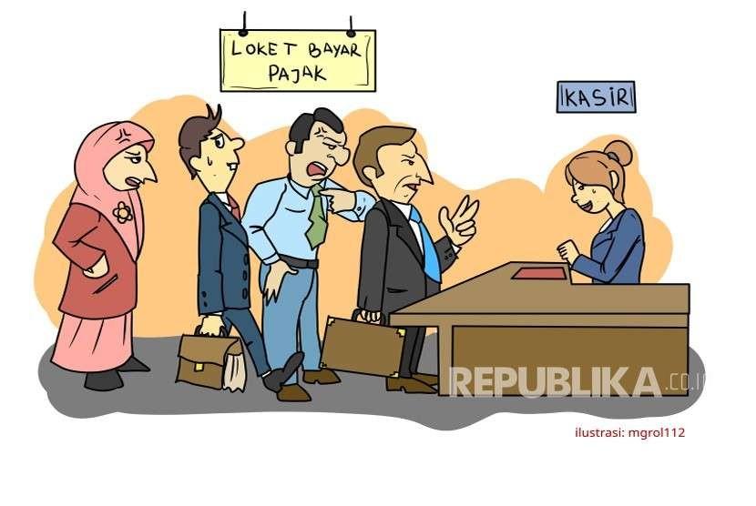 Ilustrasi Orang Bayar Pajak