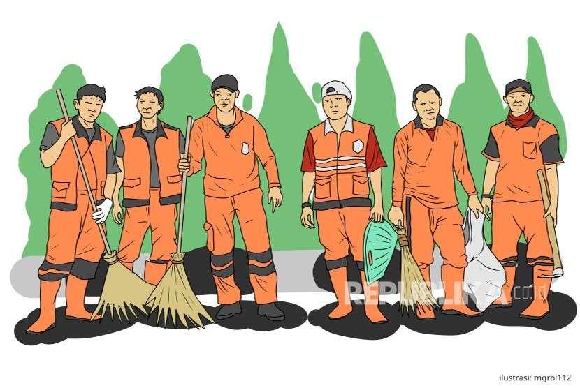 Ilustrasi Pasukan Oranye (PPSU)