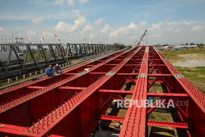Ilustrasi pembangunan jembatan