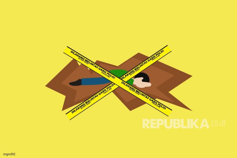 Ilustrasi penemuan mayat bayi.