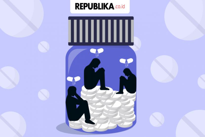 Ilustrasi pengguna narkoba