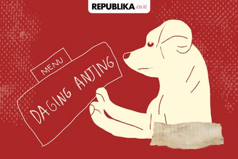 Ilustrasi penjualan dan konsumsi daging anjing yang dilarang. Anggota Komisi VI DPR RI, Amin Ak, meminta Asosiasi Pedagang Pasar Seluruh Indonesia (APPSI) dan Asosiasi Pengelola Pasar Indonesia (Asparindo) untuk melakukan sweeping penjualan daging anjing di semua pasar di seluruh Indonesia.
