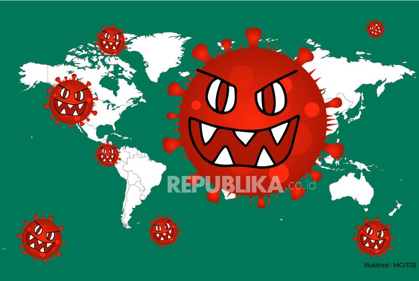 Ilustrasi Penyebaran Virus Corona.
