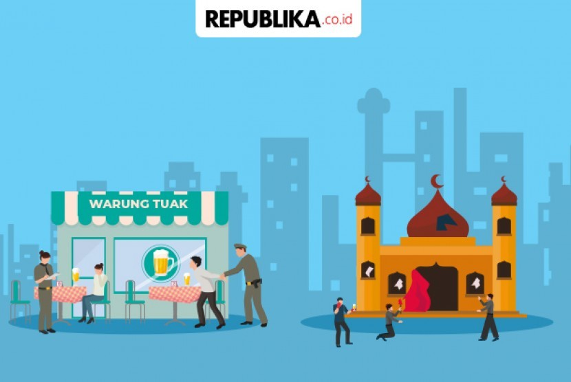 Ilustrasi Penyerangan masjid di Deli Serdang