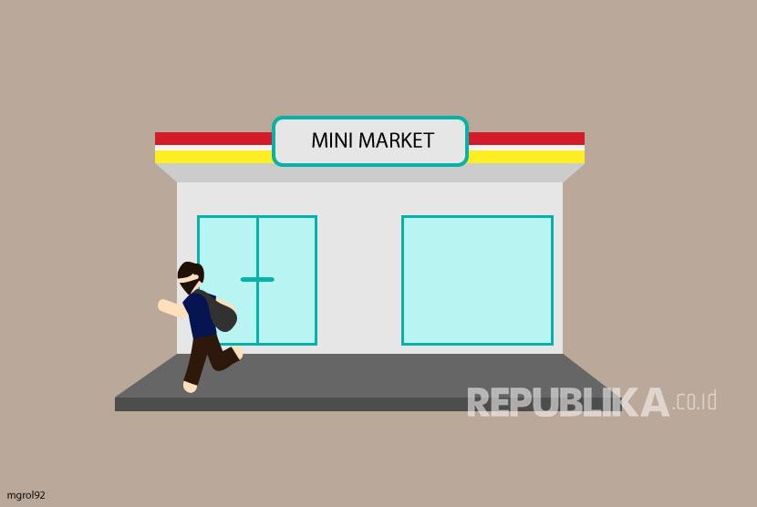 Ilustrasi Perampokan Minimarket