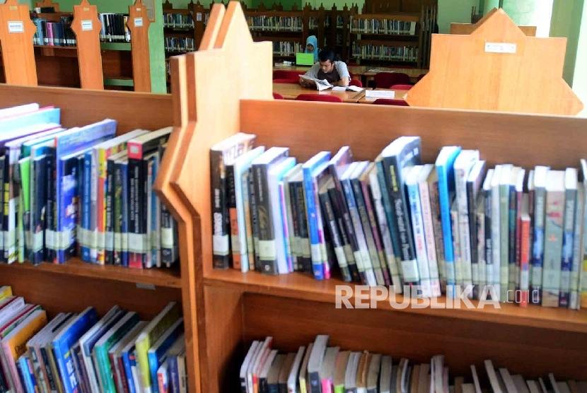 Ilustrasi perpustakaan.