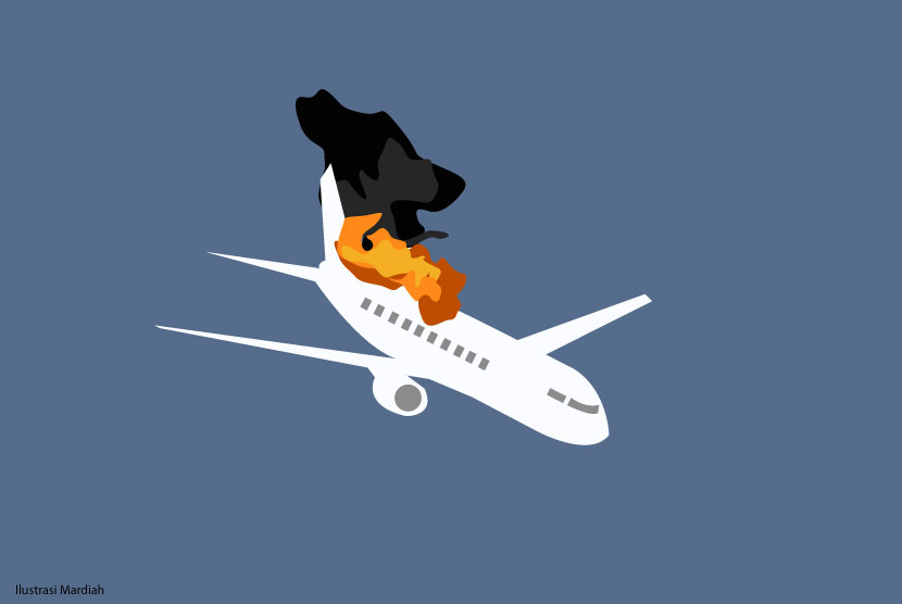 Ilustrasi - Pesawat jatuh.