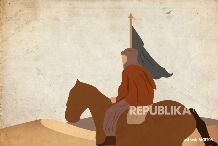 Umat Islam sempat kalah pada Perang Hunain lalu raih kemenangan gemilang. Ilustrasi Perang Hunain