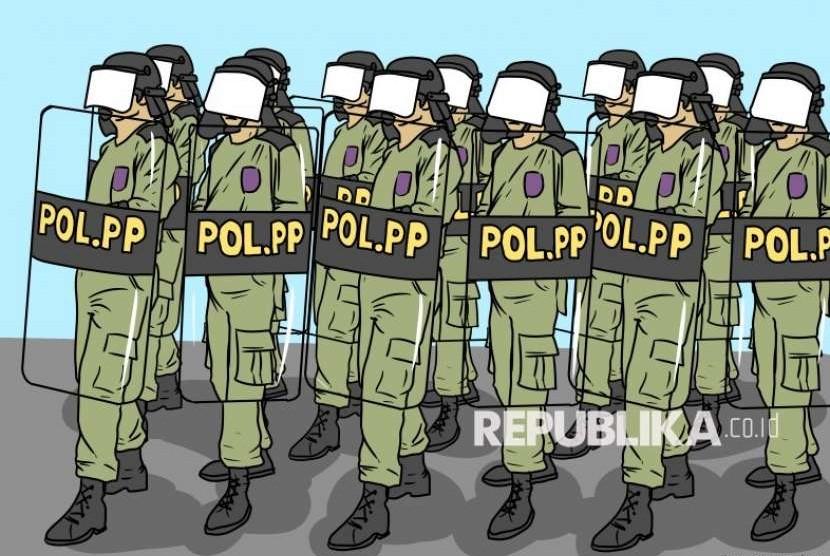 Satpol PP Bandung Tingkatkan Patroli Prokes Saat Ramadhan. Foto: Ilustrasi Satpol PP