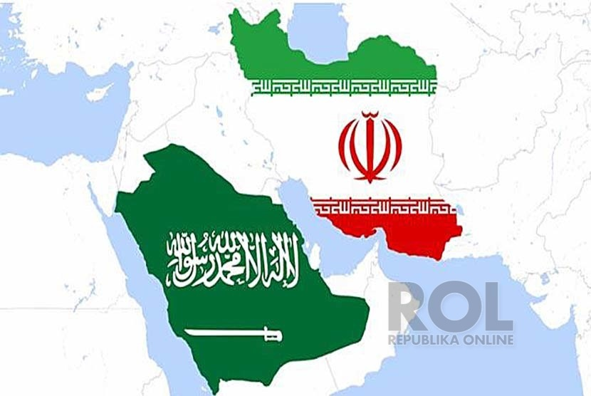 Ilustrasi Saudi vs Iran.