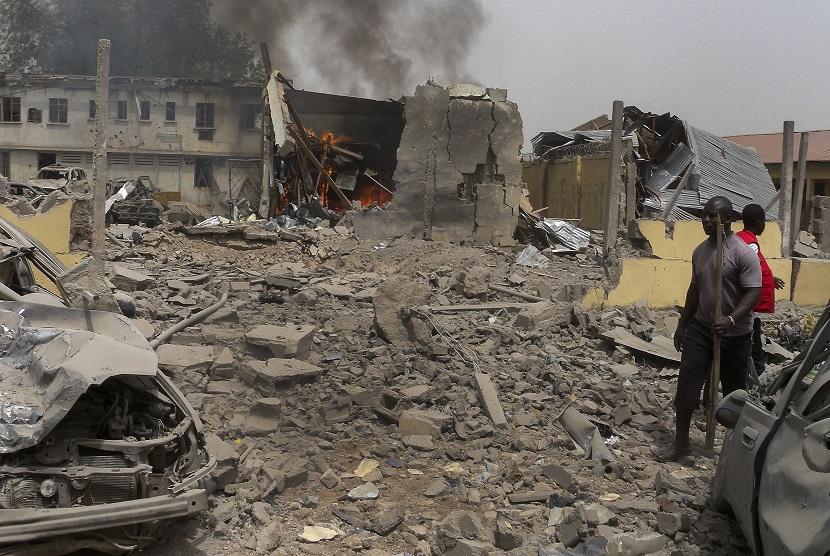 Ilustrasi serangan teror di Nigeria.
