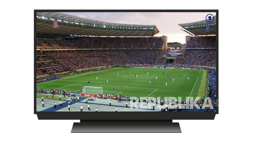 Ilustrasi Siaran sepak bola di televisi