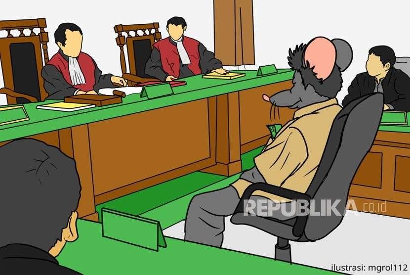 Tersangka Korupsi Bansos di Bandung Barat Segera Disidangkan. Ilustrasi Sidang Korupsi