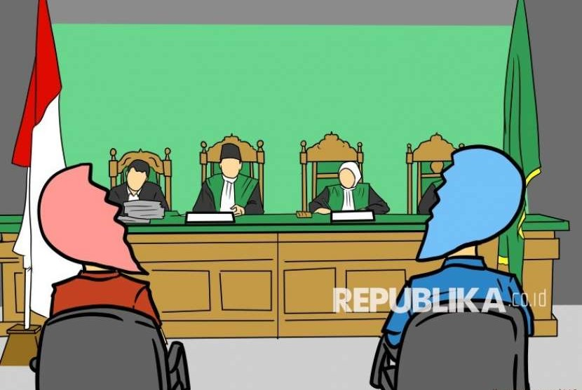 Ilustrasi Sidang Perceraian