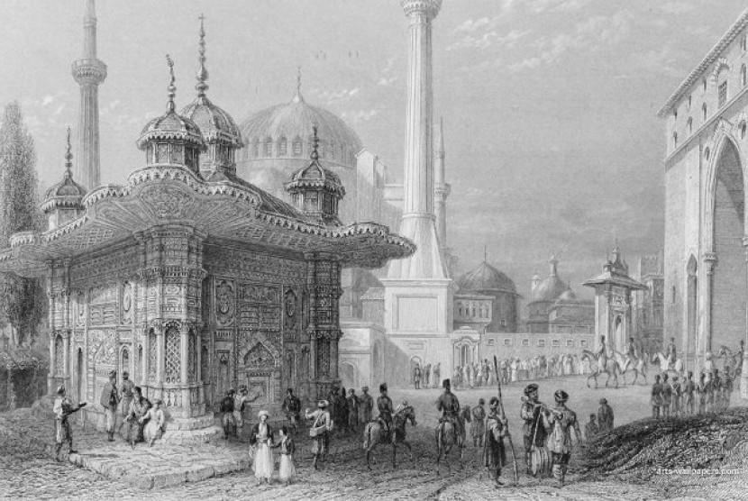 Ilustrasi suasana di Kerajaan Ottoman.