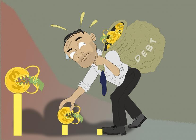 Ilustrasi utang. Kementerian Keuangan mencatat utang pemerintah sebesar Rp 6.625,43 triliun pada Agustus 2021.