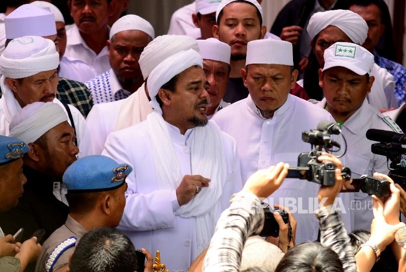 Imam besar Front Pembela Islam (FPI) Habib Rizieq Syihab