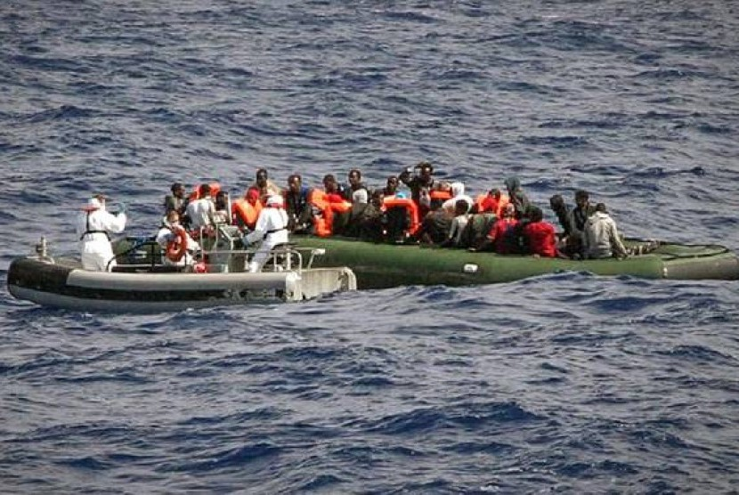 imigran Libya ke Italia