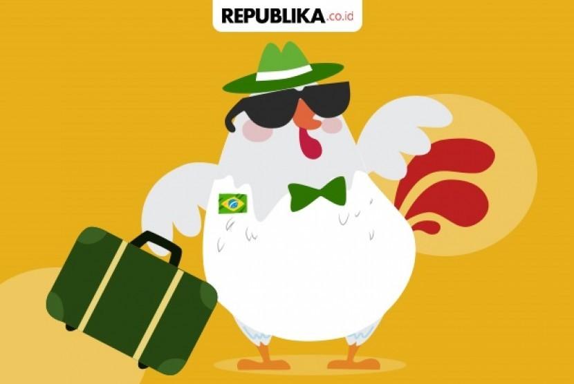 Impor daging ayam Indonesia.