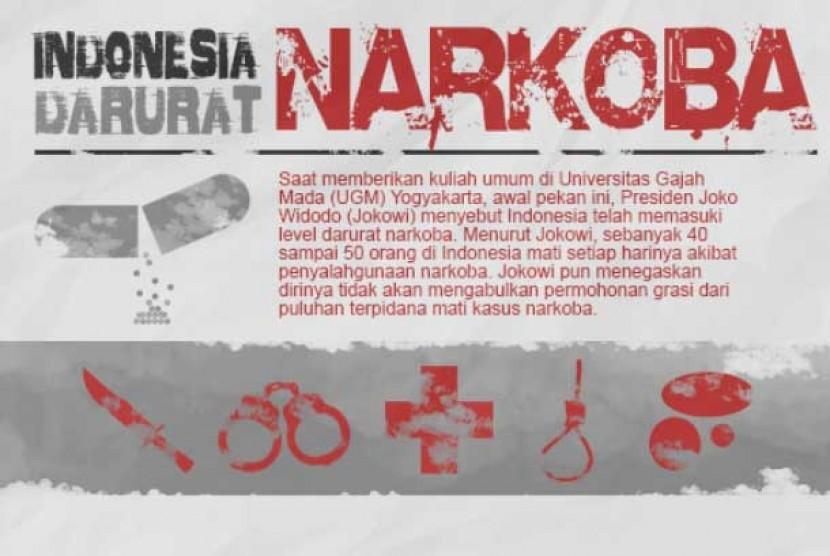 Indonesia Darurat Narkoba (ilustrasi)