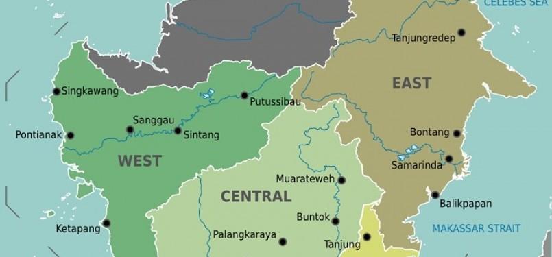 Pulau Kalimantan akan menjadi prioritas pemerintah dalam menerapkan kebijakan satu peta (one map policy).