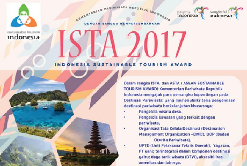 Indonesia Sustainabale Tourism Award (ISTA) 2017.