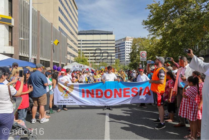 Indonesia turut tampil di perhelatan Parade Budaya di National Multicultural Festival (NMF) 2018 di Canberra.