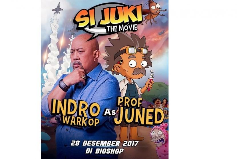 Indro mengisi suara karakter Profesor Juned di film animasi Si Juki