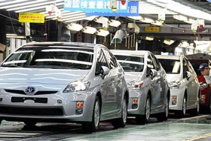 Industri mobil Toyota (ilustrasi)