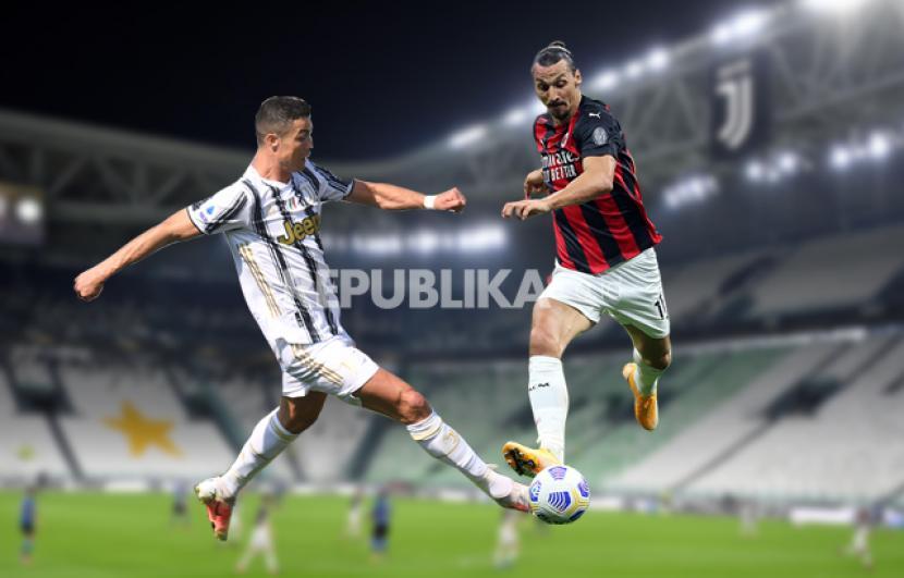 Infografis Juventus vs AC Milan