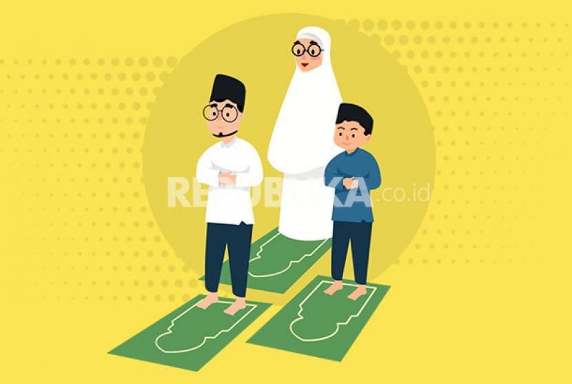 Infografis Tata Cara Sholat Idul Adha di Rumah