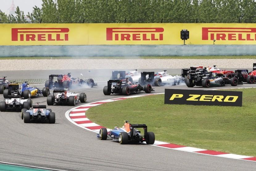 Suasana balapan F1 di Sirkuit Shanghai Internasional, Shanghai, China. (ilustrasi)