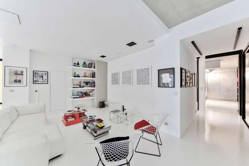 Interior rumah dengan model skandinavia.
