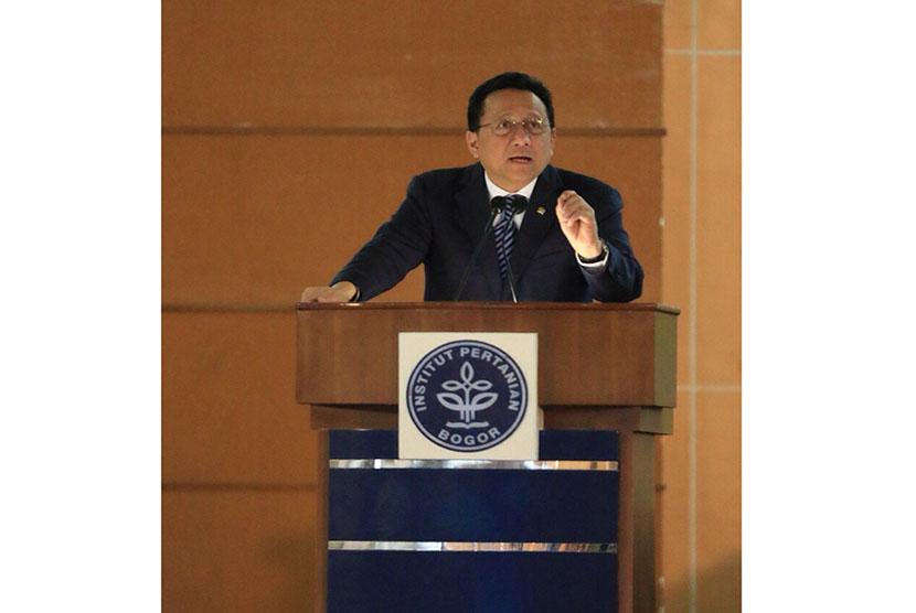 Irman Gusman saat menyampaikan orasi ilmiah di IPB.