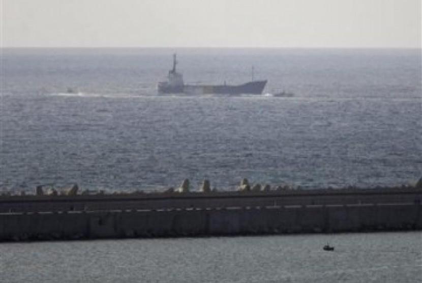 Israel mengatakan tidak akan membiarkan kapal merapat ke Jalur Gaza.