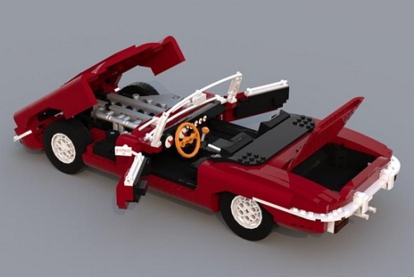 Jaguar E Type >> Tetap Orisinal Jaguar E Type Dibuat Dalam Bentuk Lego