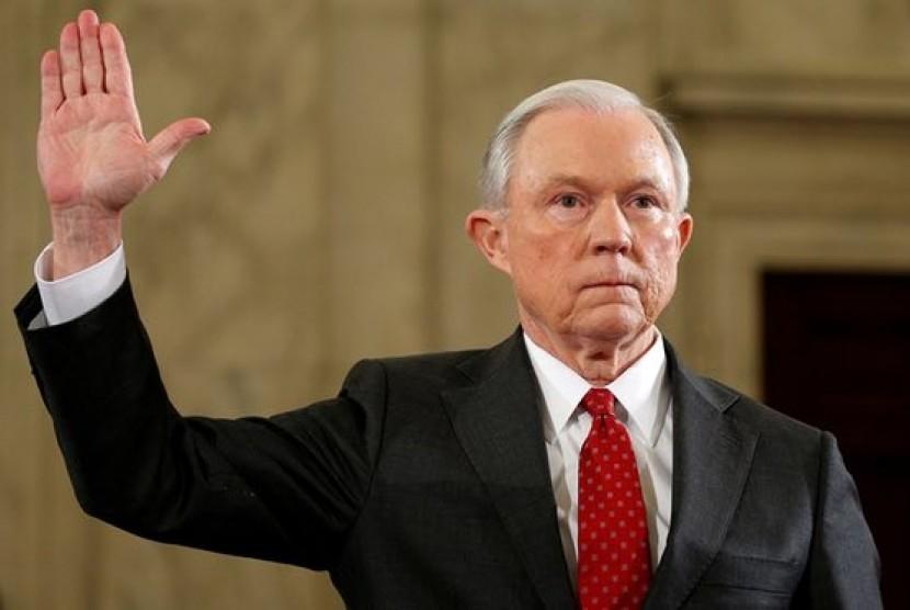 Jaksa Agung dalam pemerintahan Presiden Donald Trump, Jeff Sessions.