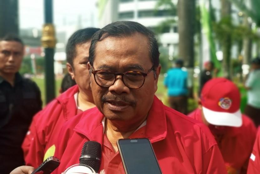 Jaksa Agung HM Prasetyo memberikan keterangan pers di Kejaksaan Agung RI, Jakarta, Kamis (12/7).