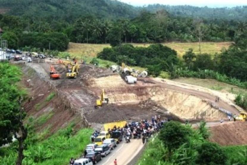 Jalur lintas Sumatera di Bandar Lampung.