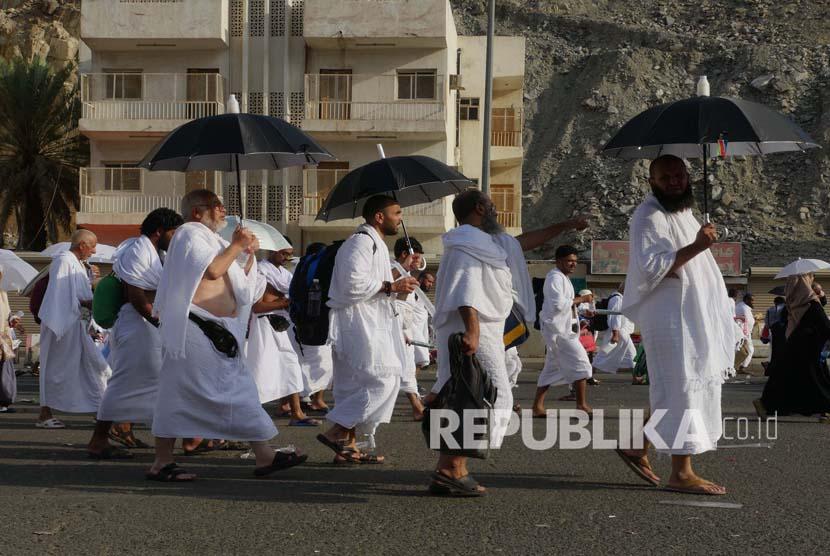 Suasana jamaa di Kota Makkah (ilustrasi)