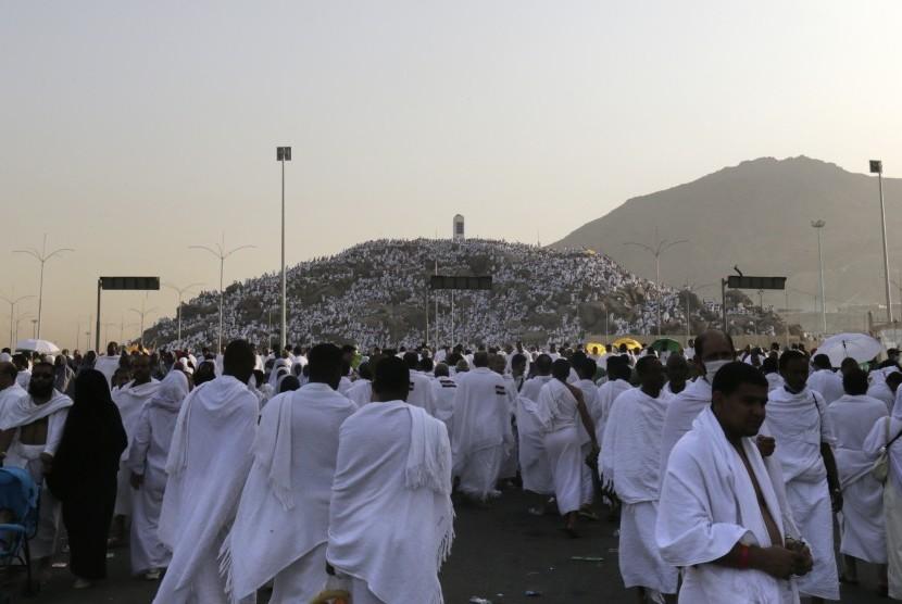 Jamaah haji di Padang Arafah