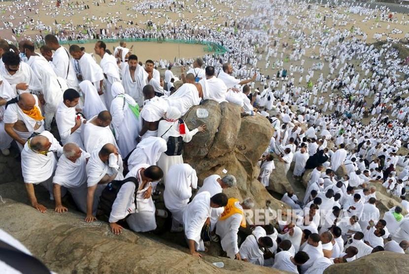 Suasana Wukuf Di Jabal Rahmah Padang Arafah 1 Republika Online