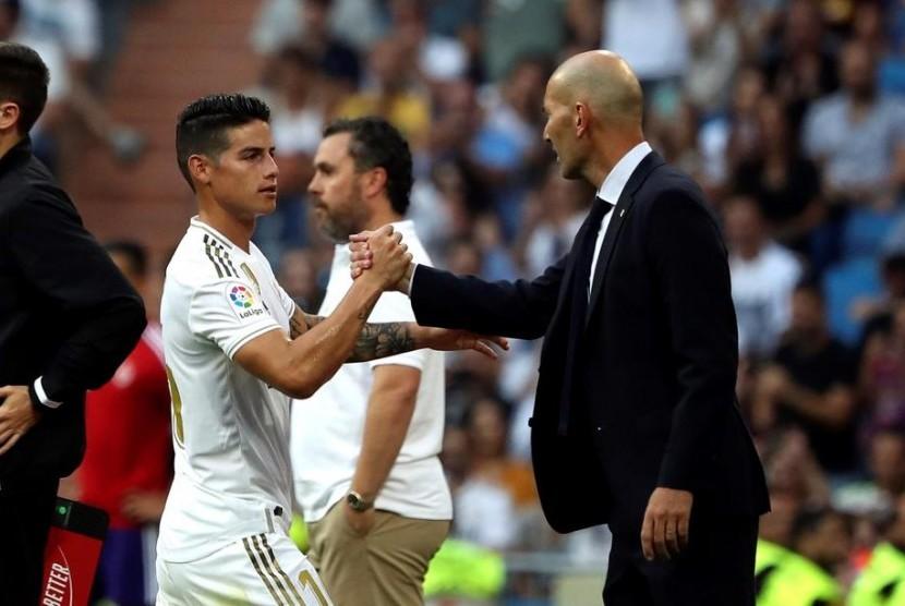James Rodriguez dan Zinedine Zidane