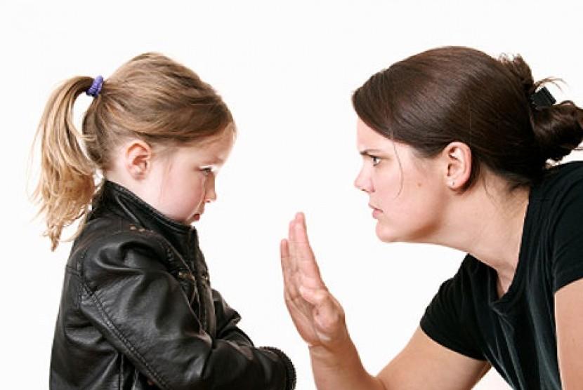 Jangan sembarangan mengungkapkan suasana hati di depan anak./Ilustrasi