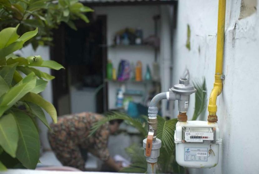 Jaringan infrastruktur pipa gas bumi milik PT Perusahaan Gas Negara Tbk (PGN) untuk konsumen rumah tangga. (ilustrasi)