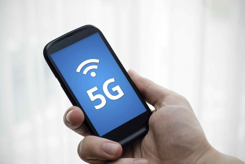 Jaringan internet 5G. Ilustrasi