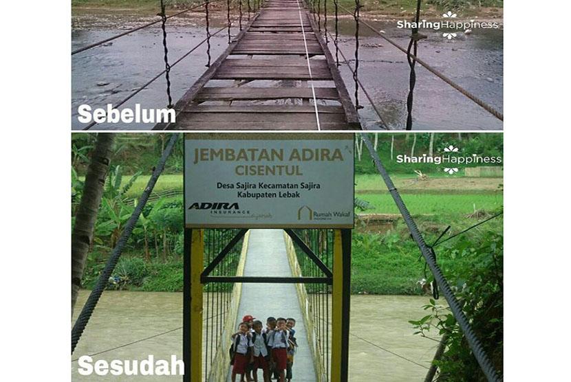 Jembatan Cisentul, dulu dan sekarang.