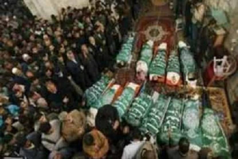 Jenazah warga Palestina yang diserahkan Israel.
